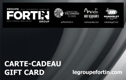 $100 Groupe Fortin Gift Card